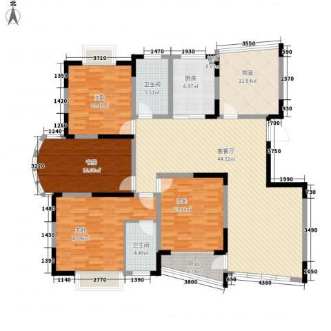 中远欧洲城4室1厅2卫1厨193.00㎡户型图