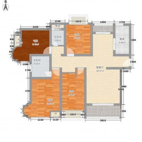 凯尔枫尚4室1厅2卫1厨135.00㎡户型图
