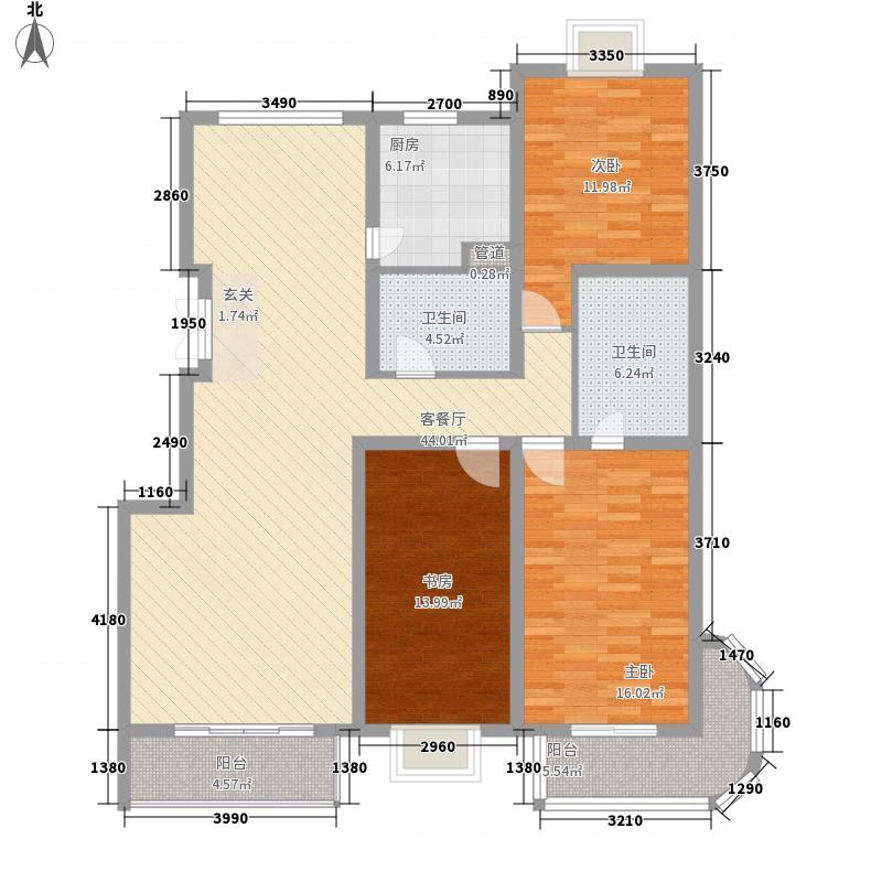 白领家园161.75㎡F户型3室2厅2卫1厨