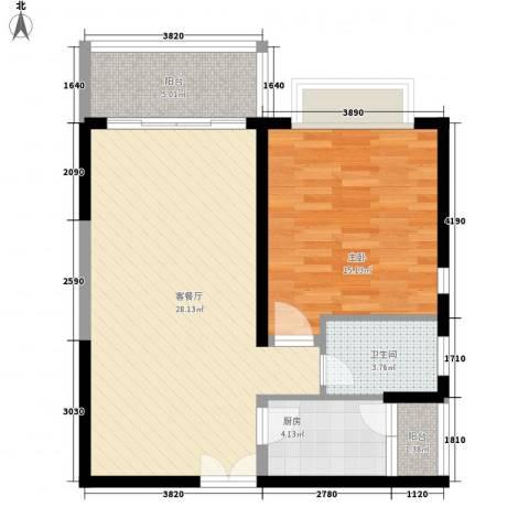 昌达・风华海月1室1厅1卫1厨83.00㎡户型图