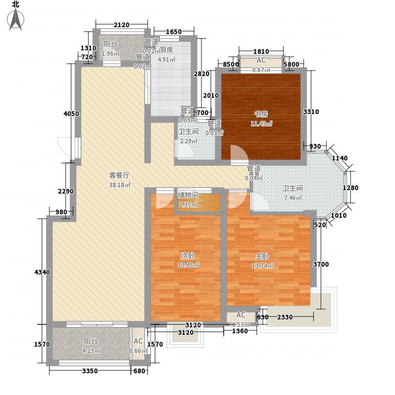 优山美地147.00㎡优山美地户型图02-13室2厅2卫1厨户型3室2厅2卫1厨