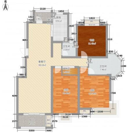 优山美地3室1厅2卫1厨147.00㎡户型图