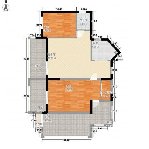 中央绿园2室1厅1卫1厨103.49㎡户型图