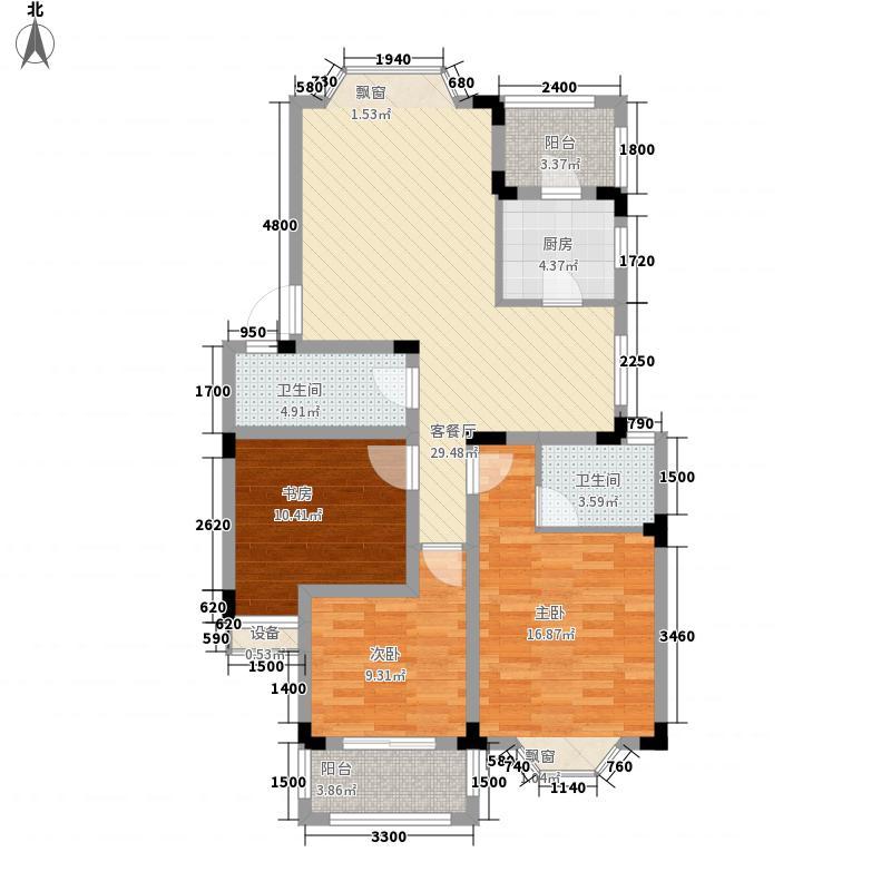 国光山水间103.99㎡国光山水间户型图B户型3室2厅2卫1厨户型3室2厅2卫1厨