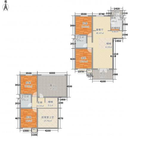 金隅时代城1室1厅2卫1厨173.13㎡户型图