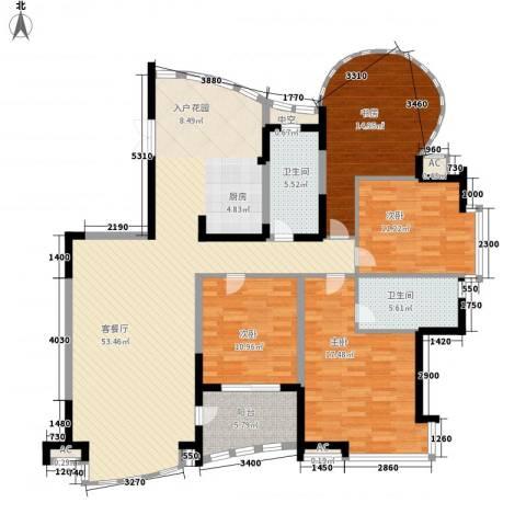 振业山水名城4室1厅2卫0厨143.00㎡户型图