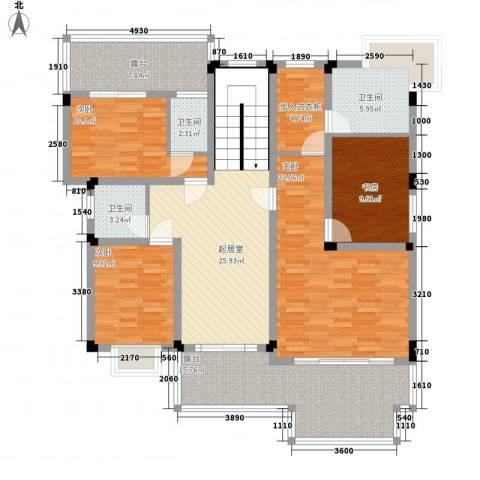 名都畔山华庭4室0厅3卫0厨168.00㎡户型图