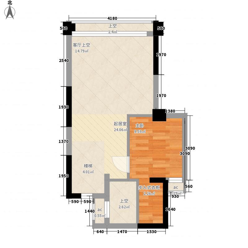 南光城市花园85.00㎡南光城市花园户型图南光户型B户型一房二厅85平复式上层1室2厅户型1室2厅