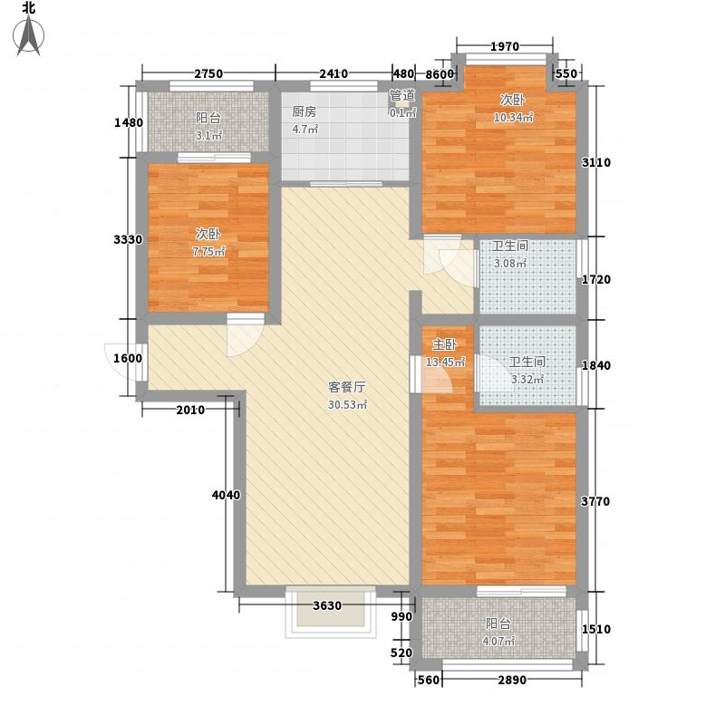 隆昊昊天园115.00㎡隆昊昊天园3室户型3室