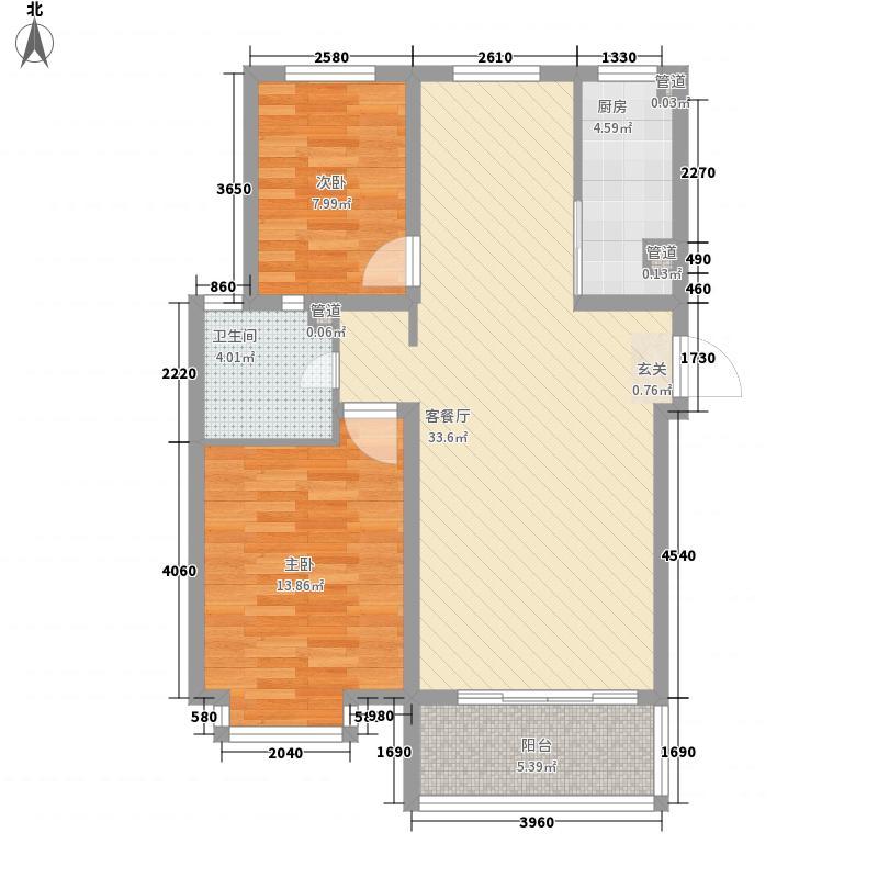 齐鲁涧桥99.56㎡齐鲁涧桥户型图B户型2室2厅2卫户型2室2厅2卫