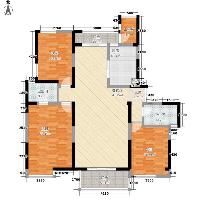 兰亭坊157.97㎡兰亭坊户型图4、5#――承天园-栖心宅3室2厅2卫1厨户型3室2厅2卫1厨