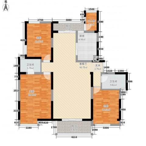 兰亭坊3室1厅2卫1厨158.00㎡户型图