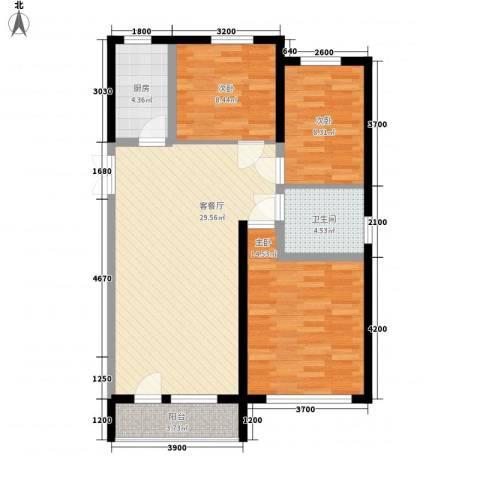 幸福E家五期3室1厅1卫1厨105.00㎡户型图