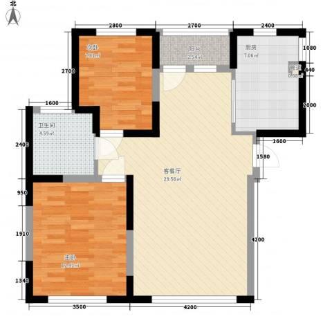 幸福E家五期2室1厅1卫1厨92.00㎡户型图