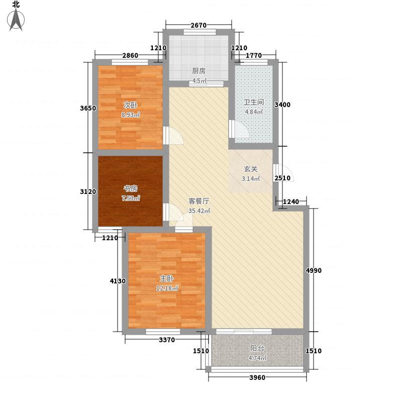 温泉花乡112.00㎡5层多层户型3室2厅1卫1厨