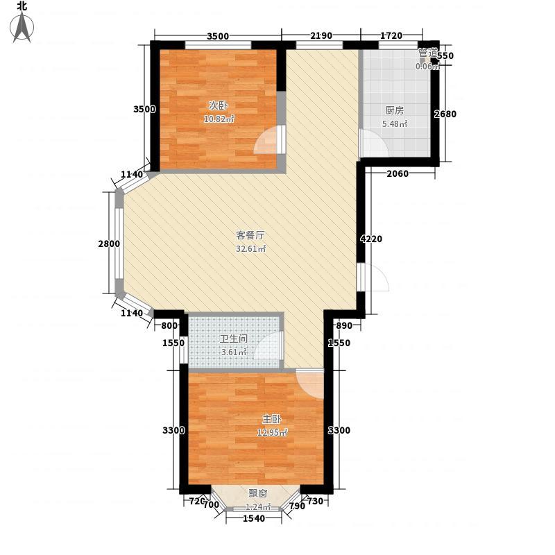 颐莲家园95.00㎡颐莲家园户型图8#楼E户型2室2厅1卫1厨户型2室2厅1卫1厨
