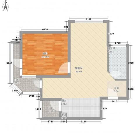 那香海国际旅游度假区1室1厅1卫0厨90.00㎡户型图