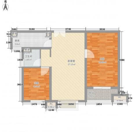 茂华国际汇2室0厅1卫1厨99.00㎡户型图