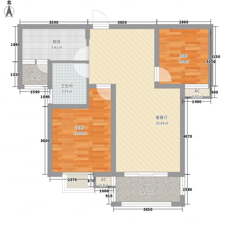 金水湾花园户型图金水湾精致典雅 2 2室2厅2卫1厨