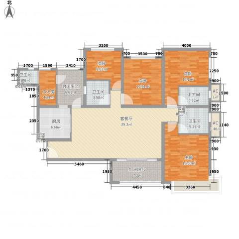 恒大雅苑4室1厅4卫1厨171.00㎡户型图