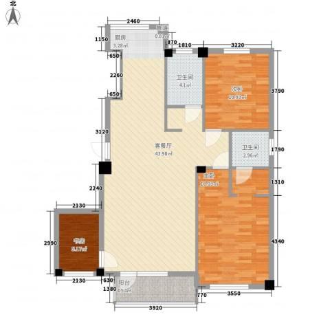 解放广场3室1厅2卫0厨125.00㎡户型图