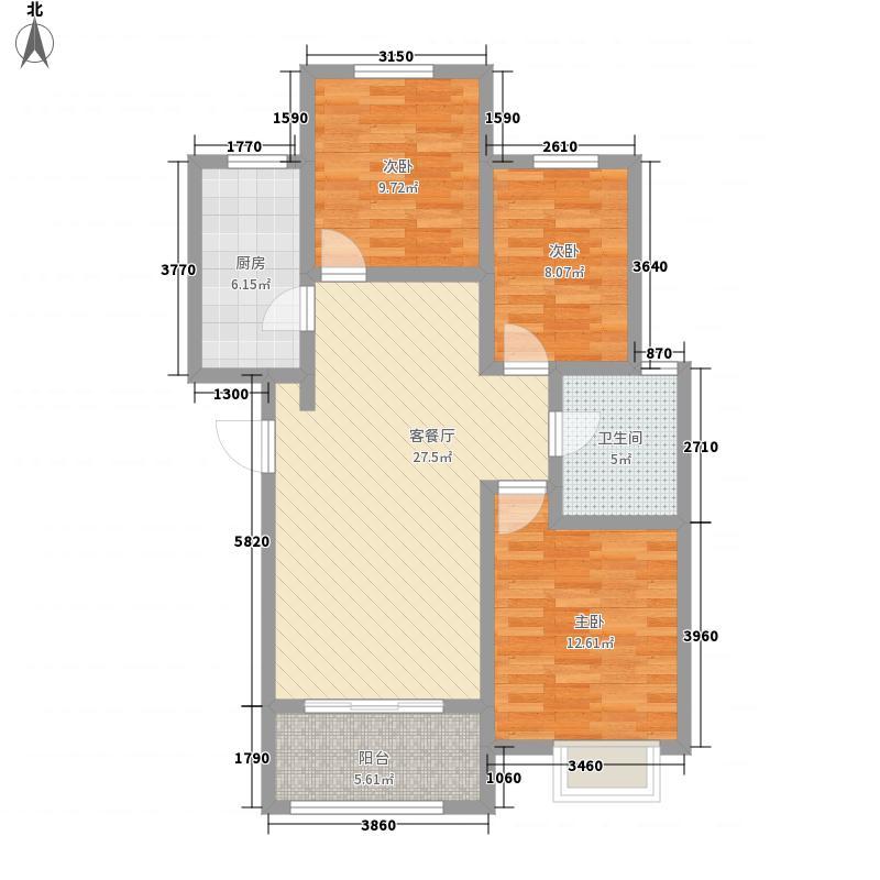 齐鲁涧桥108.00㎡齐鲁涧桥户型图Js户型3室2厅1卫户型3室2厅1卫