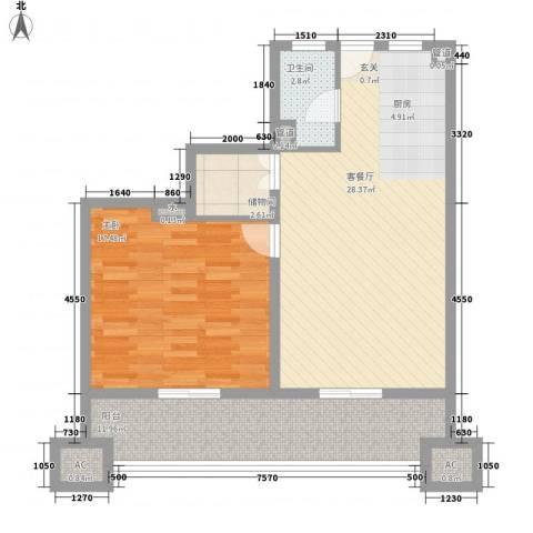 鸿德紫谷1室1厅1卫0厨94.00㎡户型图