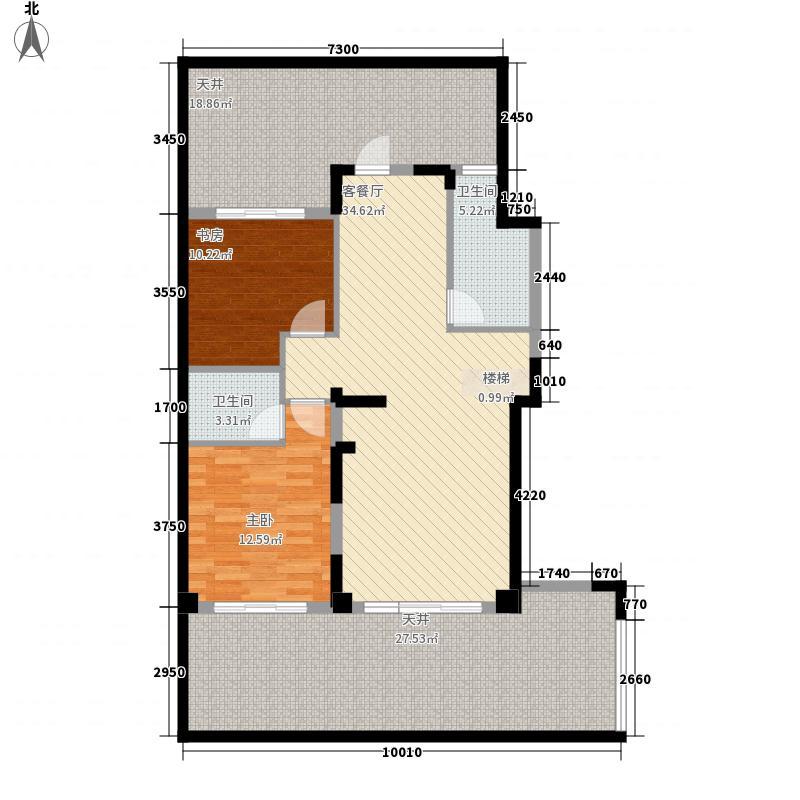 兴进中央尊馆182.00㎡7#楼B1层户型3室4厅4卫1厨