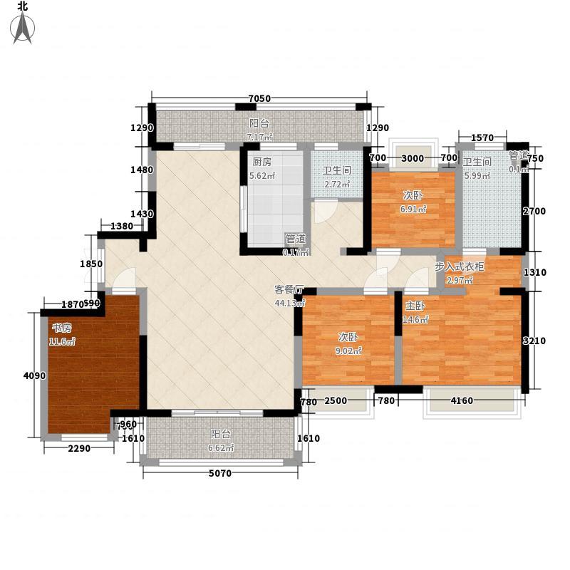 宝能睿城168.00㎡宝能睿城户型图A2户型4室2厅2卫1厨户型4室2厅2卫1厨