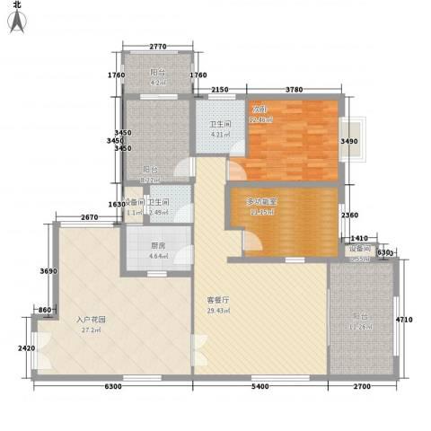 禹洲领海1室1厅2卫1厨165.00㎡户型图