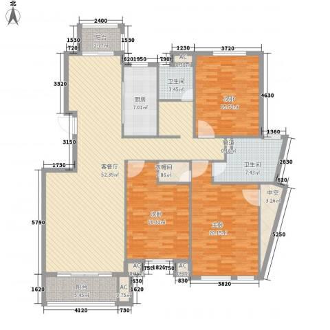 军转小区3室1厅2卫1厨193.00㎡户型图