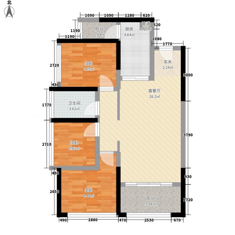 承翰来座山76.00㎡承翰来座山户型图D1户型3室2厅1卫1厨户型3室2厅1卫1厨