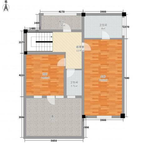 米拉晶典2室0厅2卫0厨223.00㎡户型图
