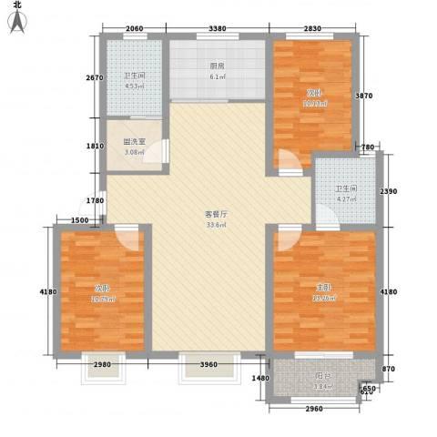 世纪名城3室1厅2卫1厨127.00㎡户型图