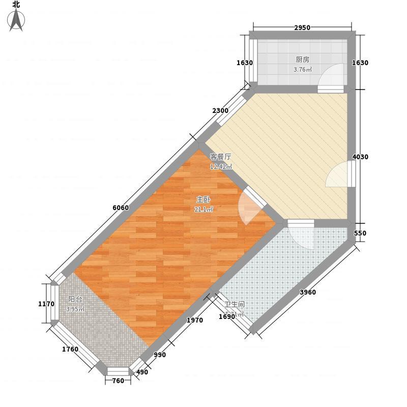 双泉公寓61.52㎡双泉公寓1室1厅1卫1厨户型1室1厅1卫1厨