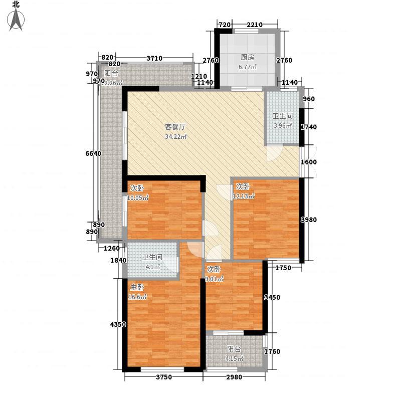 新湖・庐山国际161.00㎡高层G6-4户型4室2厅2卫