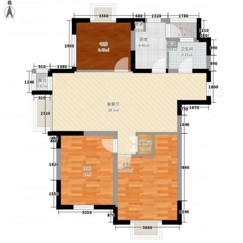 融城时代3室1厅1卫1厨106.00㎡户型图