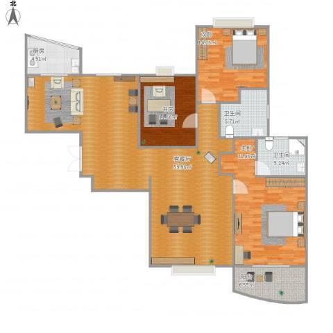 圣约翰名邸3室1厅2卫1厨174.00㎡户型图