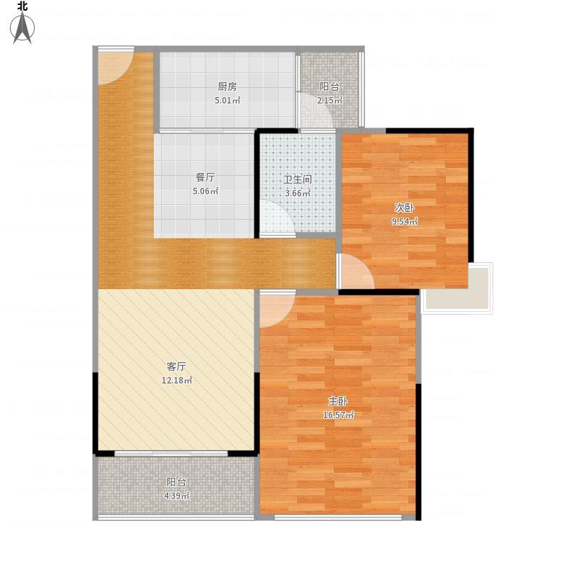 湛江-城市假日E区01户型-设计方案
