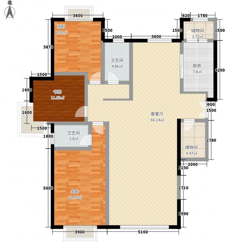 桃花苑三室两厅两卫1户型3室2厅2卫1厨
