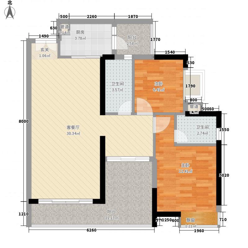 颐澳湾105.00㎡颐澳湾户型图15座04单位3室2厅2卫1厨户型3室2厅2卫1厨