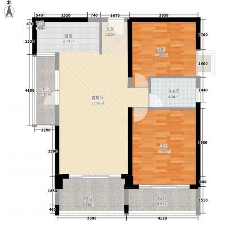 旺园小区2室1厅1卫0厨122.00㎡户型图