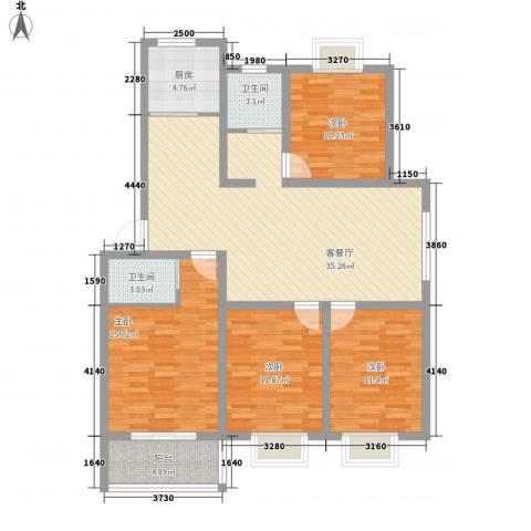 千嘉・中央杰座4室1厅2卫1厨144.00㎡户型图