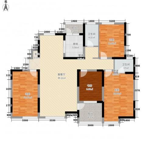 兰亭坊4室1厅2卫1厨173.00㎡户型图