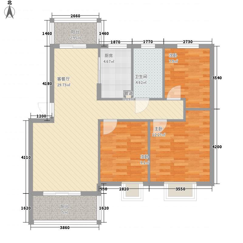 鸿威鸿景雅园108.00㎡鸿威鸿景雅园户型图花园洋房A2户型3室2厅1卫1厨户型3室2厅1卫1厨