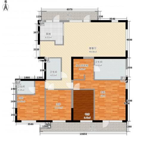 卫生公寓4室1厅3卫1厨207.00㎡户型图
