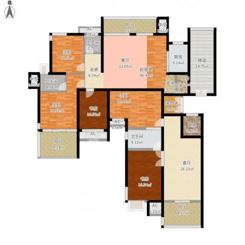 交通新苑5室1厅3卫1厨304.00㎡户型图