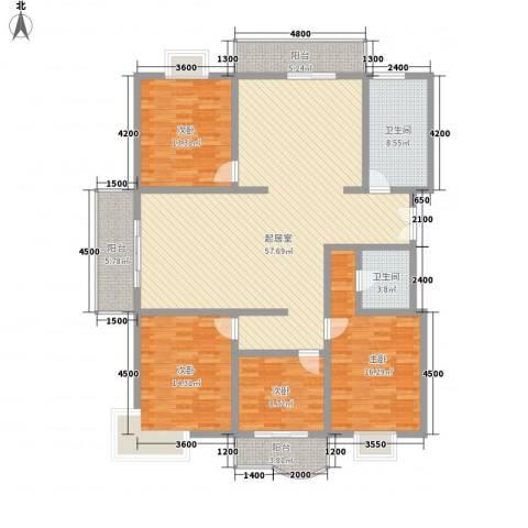新兴国际文教城4室0厅2卫0厨184.00㎡户型图