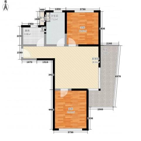 博鳌宝莲城2室0厅1卫1厨117.00㎡户型图