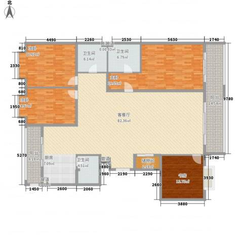 上实盛世江南4室1厅3卫0厨253.00㎡户型图